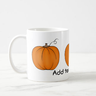 Cute pumpkin harvest coffee mug