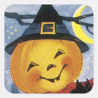 Cute Pumpkin in Witch's Hat - Halloween Sticker