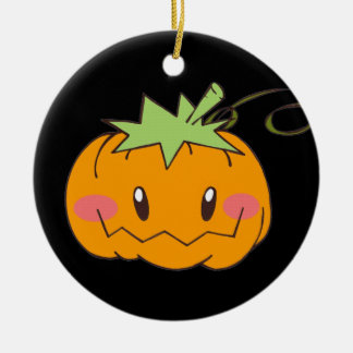Cute pumpkin jack o'lantern Halloween ornament