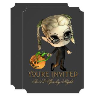Cute Pumpkin Kid Halloween Party Invitation