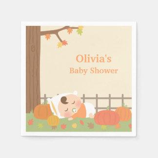 Cute Pumpkin Patch Baby Shower Napkins