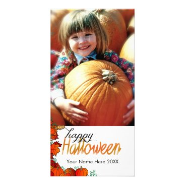 Halloween Themed Cute Pumpkin Patch Graphic With Happy Halloween Card