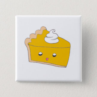 Cute Pumpkin Pie Slice Button