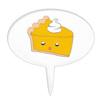 Cute Pumpkin Pie Slice Cake Topper