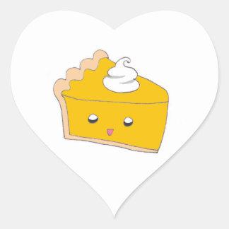 Cute Pumpkin Pie Slice Heart Sticker