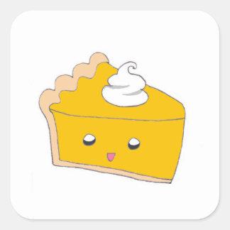 Cute Pumpkin Pie Slice Square Sticker