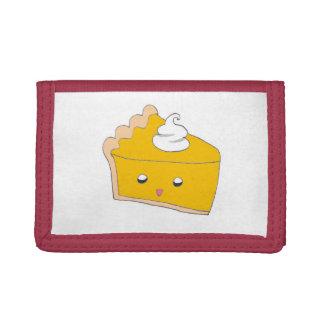 Cute Pumpkin Pie Slice Trifold Wallets