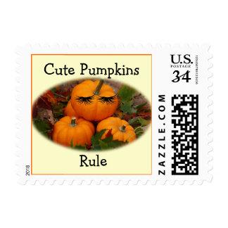 Cute Pumpkin Postage Stamp- customize