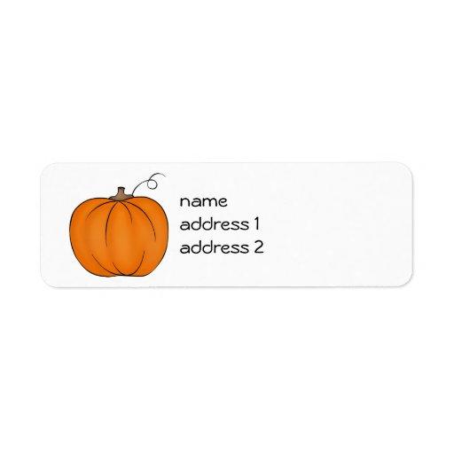 Cute pumpkin return address labels