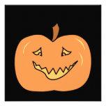 Cute Pumpkin, Smiling. Halloween. Custom Invitations