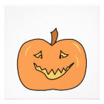 Cute Pumpkin, Smiling. Halloween. Invitations