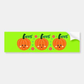Cute Pumpkins Bumper Sticker