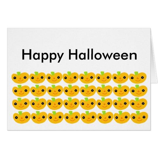 Cute Pumpkins Happy Halloween Card