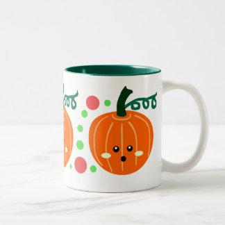 Cute Pumpkins Two-Tone Coffee Mug
