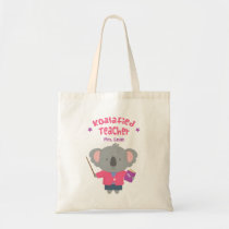 Cute Pun Humor Koala Bear Female Teacher Tote Bag