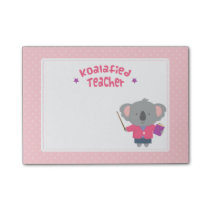 Cute Pun Humorous Koala Bear Teacher Post-it Notes