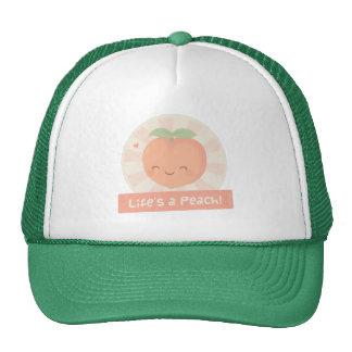 Cute Pun Life is a Peach Food Humor Trucker Hat