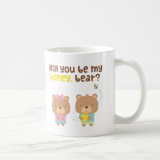 Cute Pun Love Confession Be My Honey Bear Coffee Mug
