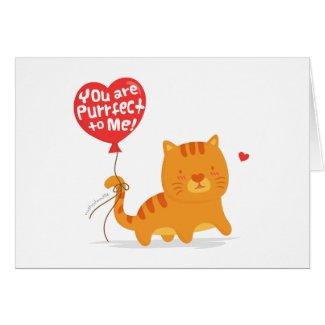 Cute Pun Love Humor Kitty Cat Cartoon Greeting Card