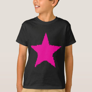 Cute punk girly hot pink ragged star for kids T-Shirt