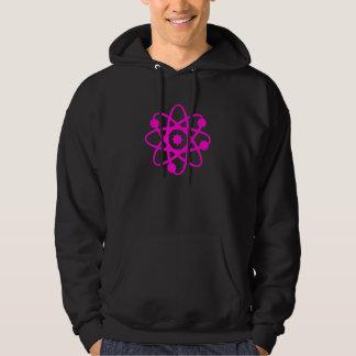 Cute punk rave science hot pink atom hoodie
