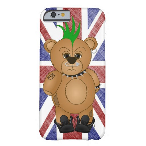 Cute Punk Rock Teddy Bear Cartoon Animal Barely There iPhone 6 Case