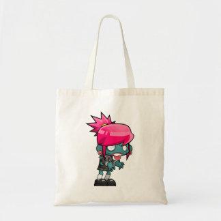 Cute Punk Rock Zombie Girl Illustration Tote Bag