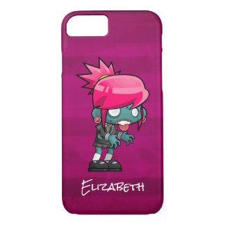 Cute Punk Rock Zombie Girl Personalized iPhone 8/7 Case