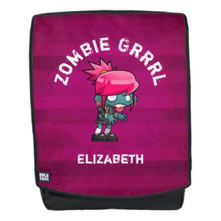 Cute Punk Rock Zombie Grrrl Backpack