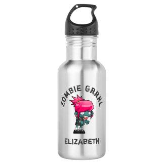 Cute Punk Rock Zombie Grrrl Water Bottle