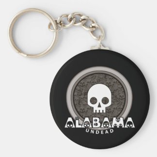 Cute Punk Skull Alabama Keychain Dark