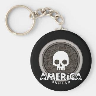 Cute Punk Skull America Keychain