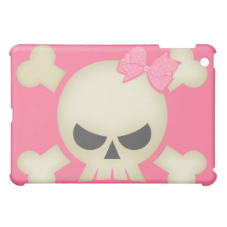 Cute Punk Skull and Bow (pink) iPad Case