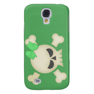 Cute Punk Skull & Bow (green) iPhone3G Case Samsung Galaxy S4 Cases
