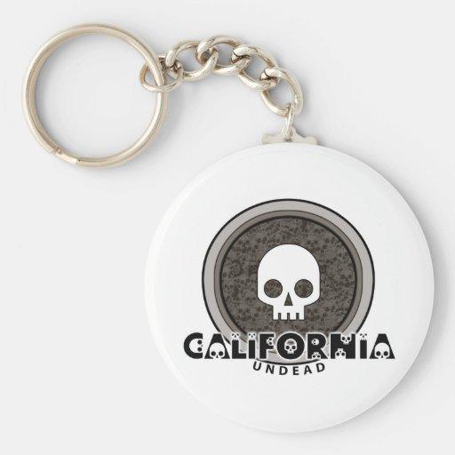Cute Punk Skull California Keychain