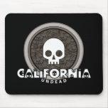 Cute Punk Skull California Mousepad Dark