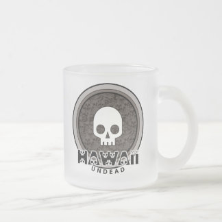 Cute Punk Skull Hawaii Mug Glass
