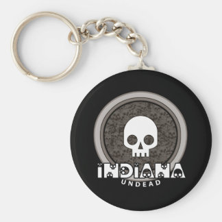 Cute Punk Skull Indiana Keychain Dark