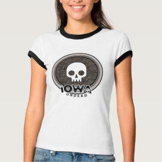 Cute Punk Skull Iowa T-Shirt Ringer