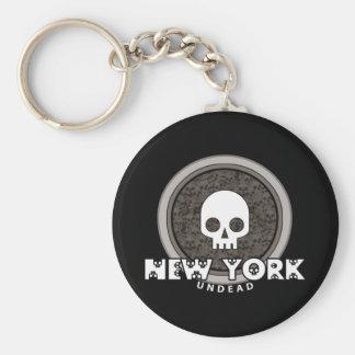 Cute Punk Skull New York Keychain Dark