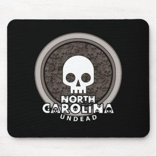 Cute Punk Skull North Carolina Mousepad Dark