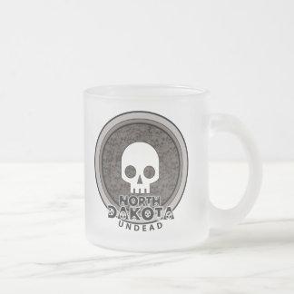 Cute Punk Skull North Dakota Mug Glass