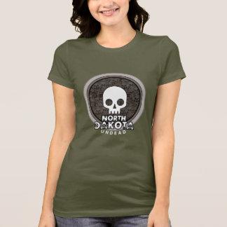 Cute Punk Skull North Dakota T-Shirt Womens