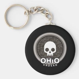 Cute Punk Skull Ohio Keychain Dark
