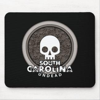 Cute Punk Skull South Carolina Mousepad Dark