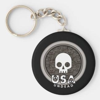 Cute Punk Skull USA Keychain