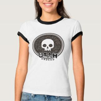 Cute Punk Skull Utah T-Shirt Ringer
