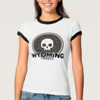 Cute Punk Skull Wyoming T-Shirt Ringer
