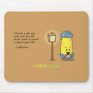 Cute & Punny Confucius Motivational Quote Mouse Pad