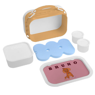 Cute Pup Design Lunch Box - Happy